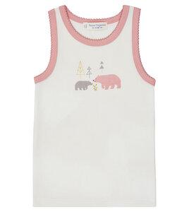 Mädchen Unterhemd mit Eisbären oder Ringel aus Biobaumwolle - Sense Organics & friends in cooperation with GARY MASH