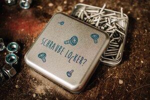 Metalldose Schraube locker, Verpackung für Schrauben, Nägel, Dübel - tindobo