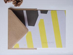 Kartenset • EINLADUNG (vier Karten mit Kuverts) - FINE colours