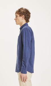 ELDER Regular Fit Melange Flannel Hemd - GOTS/Vegan - KnowledgeCotton Apparel