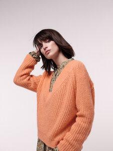 Pullover mit V-Ausschnitt aus Alpakawolle mit Polyamid - LANIUS