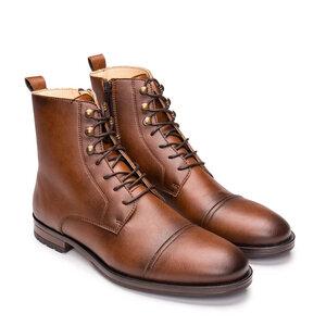 NAE Lore Brown - Vegane Derby- Boots - Nae Vegan Shoes