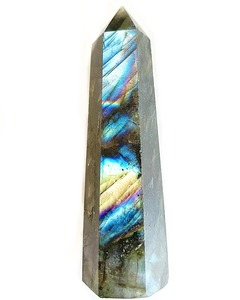 Labradorit Obelisk Deko von Crystal and Sage - Crystal and Sage