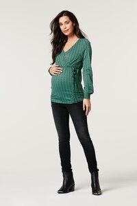 Umstands- Stillshirt grün gemustert - Esprit maternity