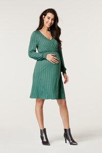 Umstands- Stillkleid grün gemustert - Esprit maternity