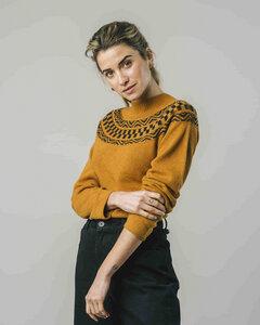 Ribbon Jacquard Sweater - Brava Fabrics