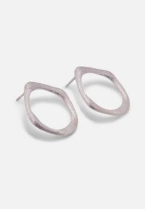 Organische Ohrringe aus 925er Silber, gebürstet - El Puente