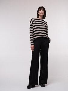 Hose mit weitem Bein aus Bio-Baumwolle und reiner Schurwolle - LANIUS
