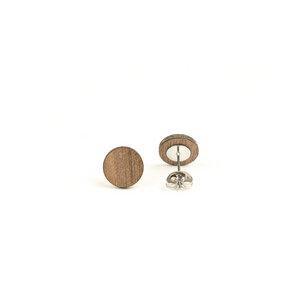 Holz Ohrstecker - Ohrring Kreis Form 10 mm mit Edelstahl - handgefertigt - - JUNGHOLZ Design