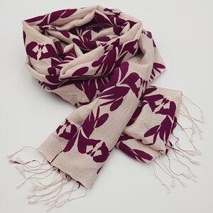 Bedruckter Schal (70% Wolle / 30% Seide) - Frida Feeling