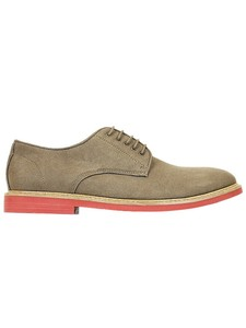 Faux suede derbys taupe - Wills Vegan Shoes