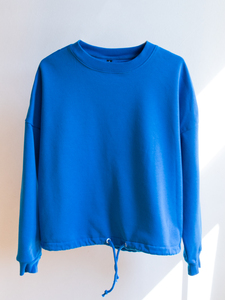 Ecostories Oversize Sweatshirt Shades of blue - Ecostories