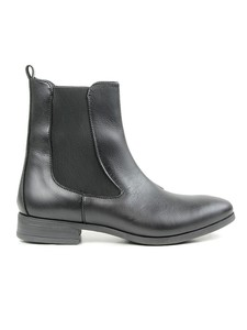 Point Toe Chelsea Boots Black - WILLS LONDON