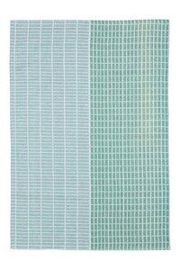 Geschirrtuch aus Biobaumwolle, GOTS-zertifiziert 70 x 50 cm in Grün und Peach - TRANQUILLO
