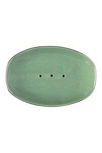 Seifenschale Classic aus Steinzeug mit Goldrand in verschiedenen Farben - TRANQUILLO