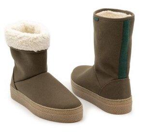 Hoher Wintersneaker JOYCE mit recycelter, wasserabweisender Baumwolle - Vesica Piscis Footwear