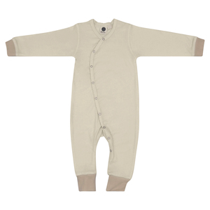 Baby Strampler Overall/Girl/Beige/100% Organische Baumwolle - Caico Cotton