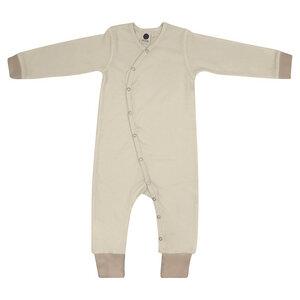 Baby Strampler Overall/Unisex/Beige/100% Organische Baumwolle - Caico Cotton