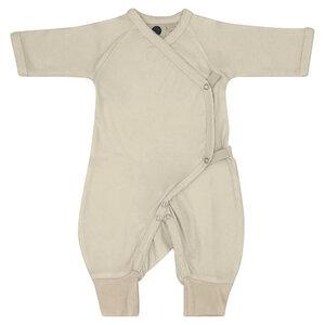 Baby Strampler Kimono/Girl/Beige/100% Organische Baumwolle - Caico Cotton