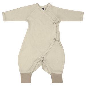 Baby Strampler Kimono/Unisex/Beige/100% Organische Baumwolle - Caico Cotton