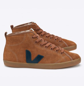TAUA MID SUEDE FURLINED CAMEL NAUTICO NATURAL SOLE - Veja