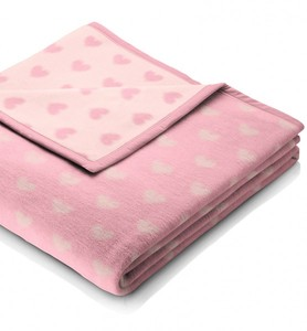 """Babydecke """"baby cotton"""",rosa, bleu oder hellbeige Größe: 75 x 100 cm - biederlack"""