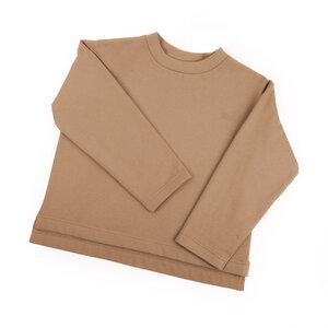 soki Kids Organic Cotton Shirt in camel - Unisex - soki