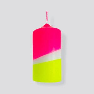 DIP DYE NEON Stumpenkerze - 120 x 60 mm - pinkstories