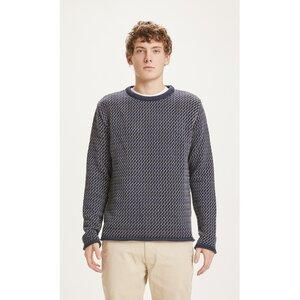 Pullover VALLEY mit Muster aus Bio-Baumwolle - KnowledgeCotton Apparel