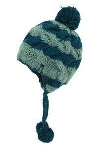 Mütze für Kinder aus Wolle in Grün und Rot - TRANQUILLO