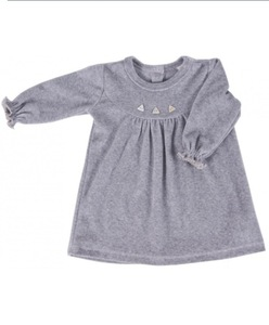 Baby Kleid grau Bio-Baumwolle - iobioTM (PoPoLiNi®)