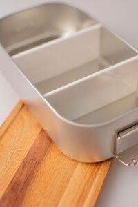 Trennsteg für die Lunchbox mit Deckel aus Bambus oder Buche - Cameleon Pack