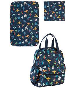Wickelrucksack Vögel aus Post-Consumer-Polyester - Frugi
