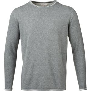 Strickpullover - Two Toned Knit W/Roll Edge - Dark Grey Melange - KnowledgeCotton Apparel