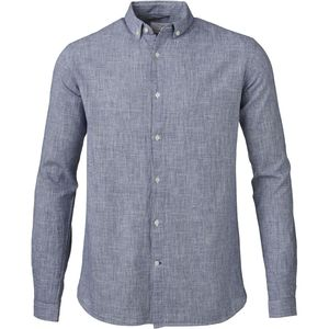 Dog Tooth Shirt - Dark Denim - KnowledgeCotton Apparel