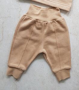 soki Organic Cotton Baby Pants in camel - Unisex - soki