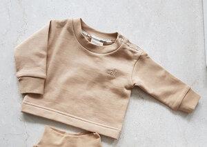 soki Organic Cotton Baby Shirt in camel - Unisex - soki