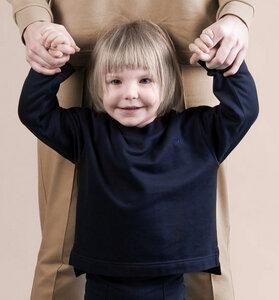 soki Kids Tencel Shirt in navy - Unisex - soki