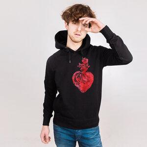 Natural Hearts Red - Männerhoodie aus Bio-Baumwolle - Coromandel