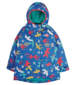 Warme Kinderjacke wasserdicht, aus Post-Consumer-Polyester - Frugi