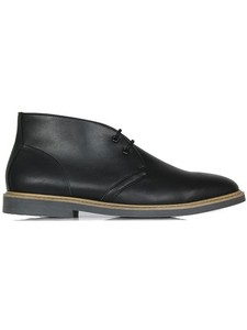 Desert Boots Black (Wide Fit) - WILLS LONDON