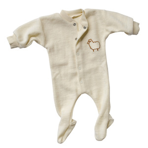 Engel Baby und Kinder Schlafanzug kleines Schaf Bio-Wolle - Engel natur