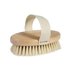 Redecker Massagebürste für Füße/Körper aus Buche mit Handflächengurt - Redecker - das Bürstenhaus