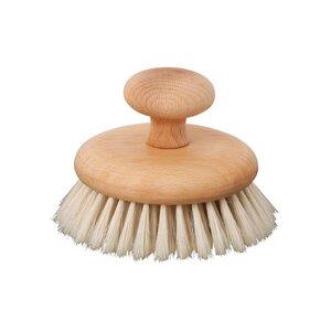 Redecker Massagebürste für Füße/Körper aus Buchenholz mit Griff - Redecker - das Bürstenhaus
