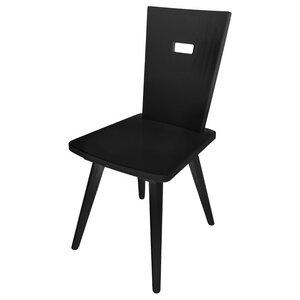 Eleganter Stuhl 'Black or White' | Vollholz | Griff rechteckig - 4betterdays