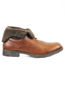 Fold-Over Work Boots Chestnut - WILLS LONDON