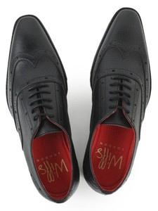 Slim Sole Oxfords Black - WILLS LONDON