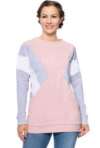 NALA Umstands- und Stillsweatshirt in Colour-Blocking - Milchshake