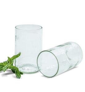 350ml Trinkglas aus der Weinflasche in transparent - MaBe