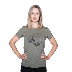 """Damen T- Shirt """"ELWoodshed"""" - ecolodge fashion"""